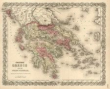Europe, Greece and Balearic Islands Map By G.W.  & C.B. Colton