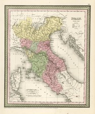Europe and Italy Map By Thomas Cowperthwait & Co.