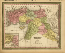 Europe, Mediterranean, Balearic Islands, Asia, Middle East and Turkey & Asia Minor Map By Thomas, Cowperthwait & Co.