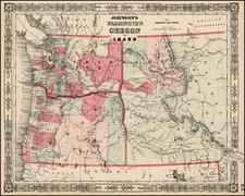 Rocky Mountains Map By Benjamin P Ward  &  Alvin Jewett Johnson