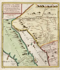 Southwest, Mexico, Baja California and California Map By Fr. Eusebio Kino