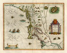 New England and Mid-Atlantic Map By Willem Janszoon Blaeu