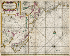 South America, New Zealand and California as an Island Map By Hendrick Doncker