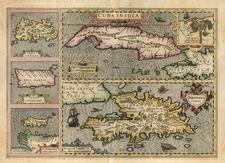 Caribbean Map By Jodocus Hondius - Gerhard Mercator