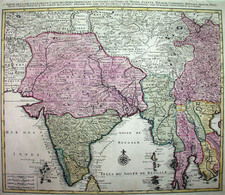Asia and India Map By Jan Barend Elwe