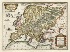 Europe and Europe Map By Jodocus Hondius - Gerhard Mercator
