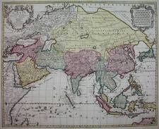 Asia and Asia Map By Jan Barend Elwe