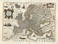 Europe and Europe Map By Henricus Hondius