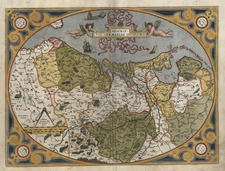 Europe, Netherlands and Germany Map By Abraham Ortelius
