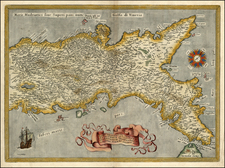 Europe, Italy and Mediterranean Map By Abraham Ortelius