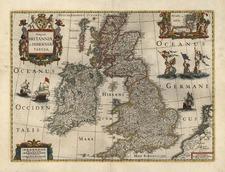 Europe and British Isles Map By Henricus Hondius