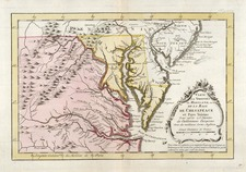 Mid-Atlantic, South and Southeast Map By A. Krevelt