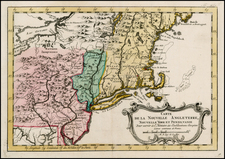 New England and Mid-Atlantic Map By A. Krevelt