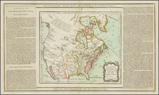 United States, North America and Canada Map By Louis Brion de la Tour
