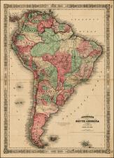 South America Map By Benjamin P Ward  &  Alvin Jewett Johnson