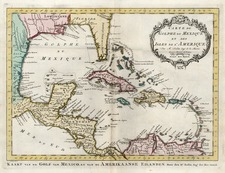 South, Southeast, Caribbean and Central America Map By J.V. Schley