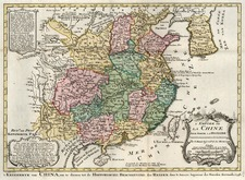 Asia, China and Korea Map By J.V. Schley