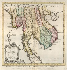 Asia and Southeast Asia Map By J.V. Schley
