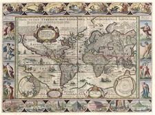 World and World Map By Jan Jansson / Pieter van den Keere