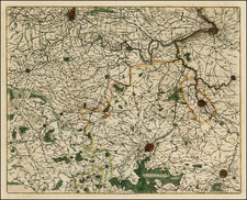 Belgium Map By Willem Janszoon Blaeu