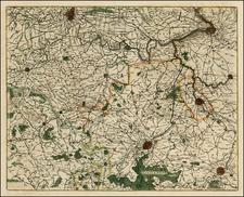 Belgium Map By Willem Janszoon Blaeu
