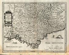 France and Italy Map By Nicholas Van Geelkercken