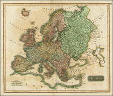 Europe and Europe Map By John Cary