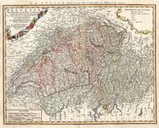 Europe and Switzerland Map By Johann Baptist Homann