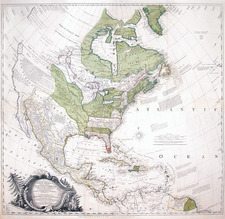 United States and North America Map By John Rocque