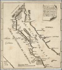 Southwest, Baja California and California Map By Ferdinando Consag