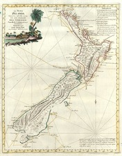 Australia & Oceania and New Zealand Map By Antonio Zatta
