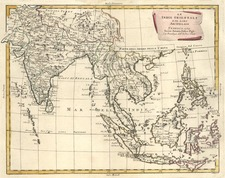 Asia, India, Southeast Asia and Philippines Map By Antonio Zatta