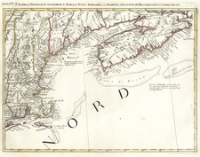 New England and Canada Map By Antonio Zatta