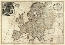 Europe and Europe Map By John Senex  &  Charles Price