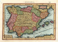 Europe, Spain and Portugal Map By Henricus Hondius - Gerhard Mercator