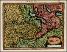 Switzerland Map By Henricus Hondius - Gerhard Mercator