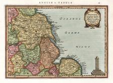 Europe and British Isles Map By Henricus Hondius - Gerhard Mercator