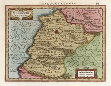 Africa and North Africa Map By Henricus Hondius - Gerhard Mercator