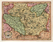 Europe and Poland Map By Henricus Hondius - Gerhard Mercator
