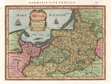 Europe, Germany, Poland and Baltic Countries Map By Henricus Hondius - Gerhard Mercator