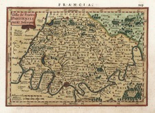 Europe and France Map By Gerhard Mercator
