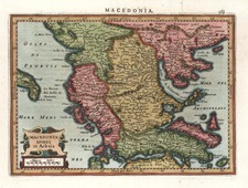 Europe and Greece Map By Gerhard Mercator