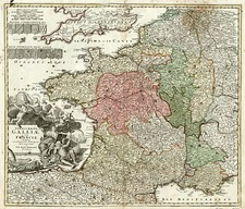 Europe and France Map By Johann Baptist Homann