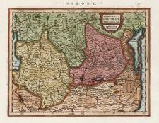 Europe and Italy Map By Henricus Hondius - Gerhard Mercator