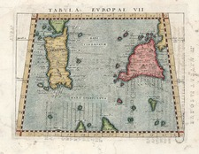 Europe, France, Italy, Mediterranean and Balearic Islands Map By Giovanni Antonio Magini