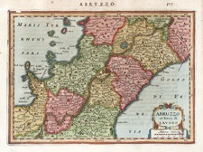 Italy Map By Jodocus Hondius - Michael Mercator