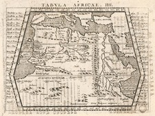 Asia, Middle East, Holy Land, Turkey & Asia Minor, Africa and North Africa Map By Giovanni Antonio Magini