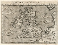 British Isles Map By Giovanni Antonio Magini
