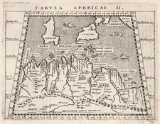 Europe, Mediterranean, Balearic Islands, Africa and North Africa Map By Giovanni Antonio Magini