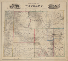 Plains and Rocky Mountains Map By G.W.  & C.B. Colton / G.L. Holt